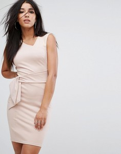 Платье мини со вставками и отделкой из искусственной замши Lipsy - Розовый
