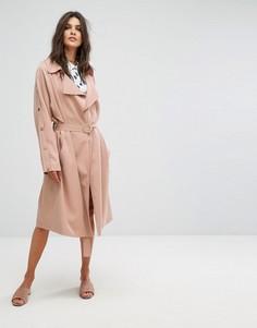 Легкое пальто в минималистском стиле Suncoo - Коричневый