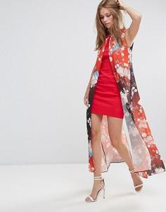 Платье с принтом Liquorish - Красный