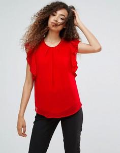 Блузка с расклешенными рукавами Ichi - Красный