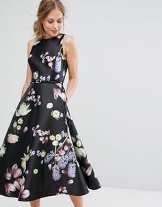 Приталенное платье с цветочным принтом Ted Baker Rosa - Мульти