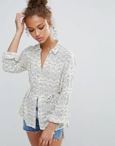 da6fcb909b6 Купить женские блузки с поясом в интернет-магазине Lookbuck