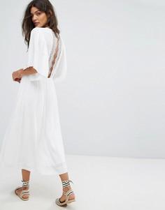 Платье с кружевными вставками Suncoo Charlotte - Белый