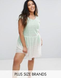 Короткое приталенное платье из кружева Diya - Зеленый