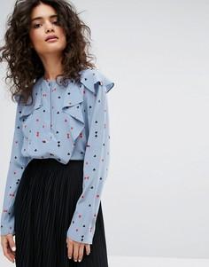 Шелковая блузка с принтом Sonia By Sonia Rykiel - Мульти