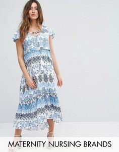 Платье макси для кормления с мозаичным принтом Gebe Maternity - Мульти
