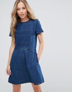 Жаккардовое платье Bellfield Yarrow - Синий