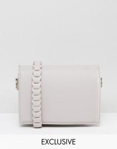 Серая сумка через плечо с декоративной отделкой Street Level - Серый