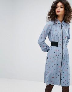 Шелковое платье с принтом Sonia By Sonia Rykiel - Мульти