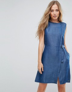 Джинсовое платье с запахом Bellfield Disi - Синий