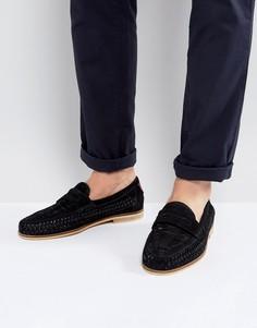 Плетеные лоферы Burton Menswear - Черный