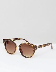 Солнцезащитные очки с декоративной планкой AJ Morgan - Коричневый