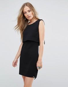 Жаккардовое ярусное платье Bellfield Scilla - Черный