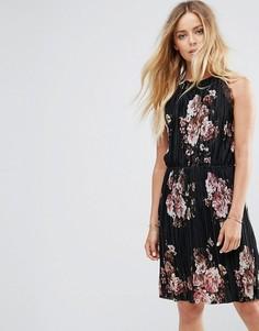Плиссированное платье с цветочным принтом Vila - Мульти
