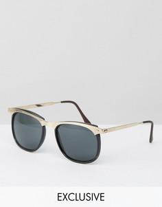 Круглые солнцезащитные очки Reclaimed Vintage Inspired - Черный