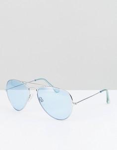 Солнцезащитные очки-авиаторы с синими стеклами Reclaimed Vintage Inspired - Синий