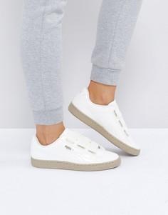 Лакированные кроссовки Puma Basket Heart - Кремовый