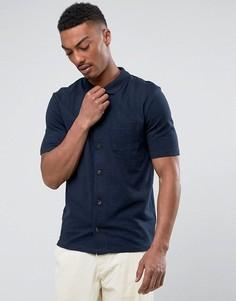 Трикотажная рубашка Selected Homme - Темно-синий