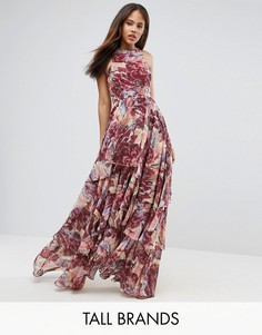 Платье макси с принтом Y.A.S Studio Tall - Мульти