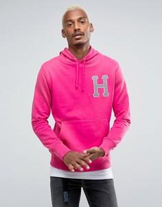 Худи со светоотражающим логотипом HUF - Розовый