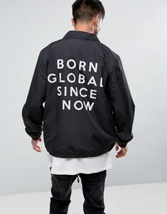 Спортивная куртка с вышивкой на спине Night Addict - Черный