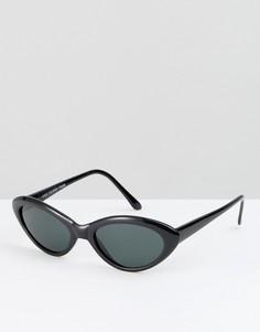 Черные солнцезащитные очки кошачий глаз Reclaimed Vintage Inspired - Черный
