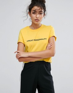 Adolescent Clothing Great Personality T-Shirt - Желтый