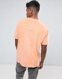 Свободная махровая футболка Antioch - Оранжевый