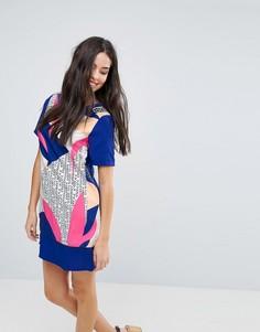 Свободное платье Yumi - Мульти