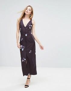 Платье миди на пуговицах Oh My Love - Мульти