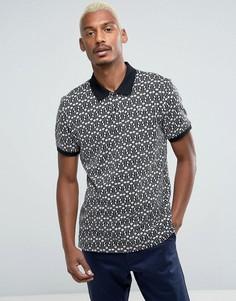 Трикотажная футболка-поло с вышитым логотипом HUF - Черный