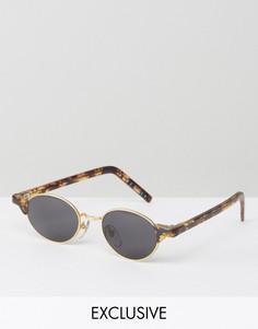 Круглые солнцезащитные очки в черепаховой оправе Reclaimed Vintage - Коричневый