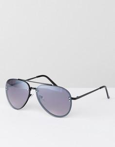 Черные металлические солнцезащитные очки-авиаторы AJ Morgan - Черный