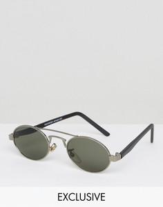 Круглые солнцезащитные очки в золотистой оправе Reclaimed Vintage - Золотой