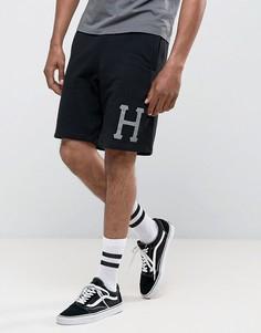 Шорты со светоотражающим логотипом HUF - Черный