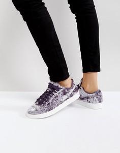 Сиреневые бархатные кроссовки Nike Blazer - Фиолетовый