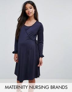 Платье для кормления с запахом Bluebelle - Темно-синий