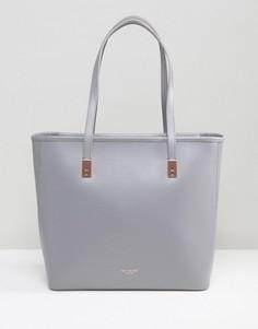 Кожаная сумка-шоппер Ted Baker Chelsey - Серый