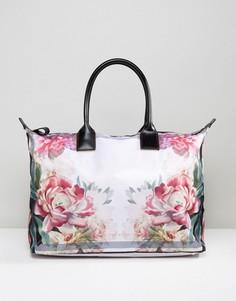 Большая сумка-тоут с принтом роз Ted Baker - Мульти