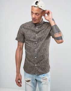 Рубашка с леопардовым принтом Systvm - Коричневый
