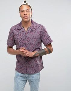 Рубашка с отложным воротником и принтом Systvm - Красный