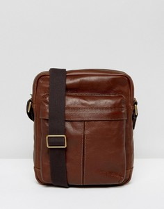 Кожаная сумка для авиаперелетов Fossil City - Коричневый