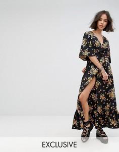 Платье макси с запахом Reclaimed Vintage Inspired - Черный