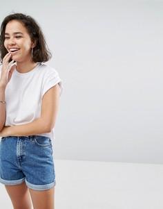 Короткая футболка бойфренда ASOS - Белый