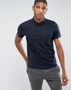 Облегающая футболка-поло Burton Menswear - Темно-синий