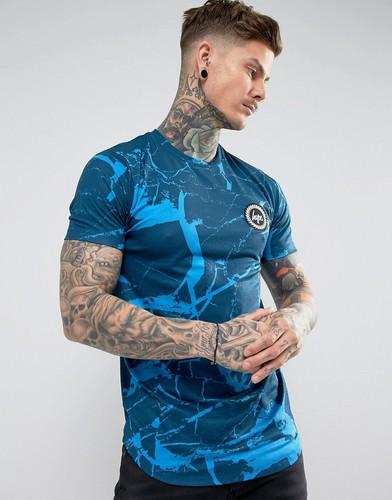 Темно-синяя футболка с мраморным принтом Hype - Темно-синий