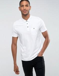 Облегающая футболка-поло Burton Menswear - Белый