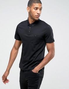 Облегающая футболка-поло Burton Menswear - Черный