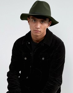 Мягкая фетровая шляпа Brixton Wesley - Зеленый