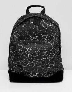 Рюкзак с принтом трещин Mi-Pac - Черный